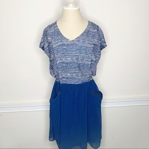 Joy Joy NWT Fit and Flare Navy Boutique Dress